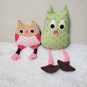 PBK owls Haley Brooke plush pillows Joy & Penny